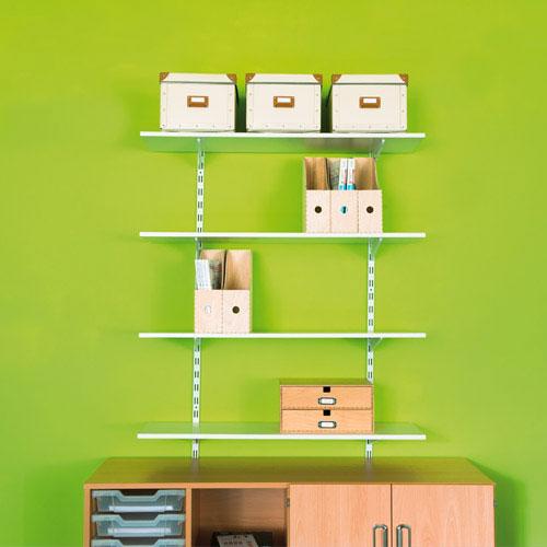 Rapid Twin Slot Shelving Kits (1000mm high) with 4 Shelves
