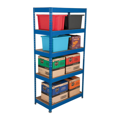 Budget Blue Shelving - 5 Shelves